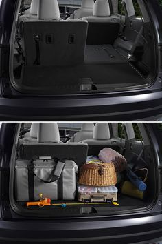 Any weekend can be a family fishing trip weekend when you have the 2016 Honda Pilot Elite. Whether you're driving five minutes away from home or five hours, there's enough storage for all your tents, fishing poles, coolers and more!   Honda reminds you to secure cargo.