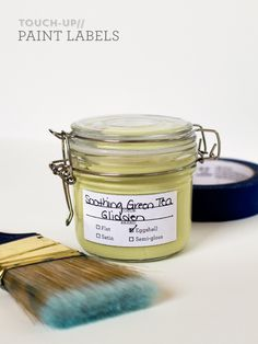 Printable Touch-Up Paint Jar Labels by Sarah Hearts