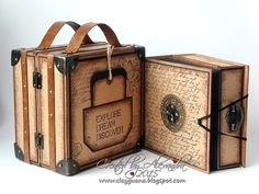 Vintage Style Suitcase with a Drawer-Album