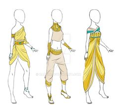 Egyptian Clothes [Adoptable] [ Open] by Caecin on DeviantArt Ancient Egyptian Clothing, Egyptian Fashion, Ancient Egypt Fashion, Anime Egyptian, Egyptian Art, Egyptian Jewelry, Clothes Draw, Drawing Clothes, Fashion Design Drawings