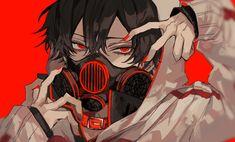Anime Boys, Anime Demon Boy, Dark Anime Guys, Me Anime, Cute Anime Guys, Kawaii Anime, Pretty Art, Cute Art, Anime Mascaras