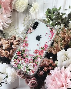 Case, iphone x clear case, mosnovo floral garden flower printed clear desig Iphone 10, Coque Iphone, Iphone Cases, Whatsapp Pink, Modelos Iphone, Pusheen, Accessoires Iphone, Diy Videos, Girls Videos