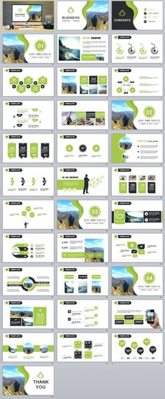 34+ Green Clear PowerPoint templates | The highest quality PowerPoint Templates and Keynote Templates download Presentation Slides Design, Presentation Layout, Slide Design, Business Presentation, Powerpoint Design Templates, Powerpoint Themes, Creative Powerpoint, Keynote Template, Powerpoint Charts