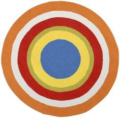 8u0027 Round Kids Round Area Rug Bright Colored Circle Design | From The  Nursery To