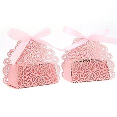 Tinksky 50 Roses Flowers Wedding Anniversary Gifts Candy Box Party Favors (Pink) >>> Click on the image for additional details.