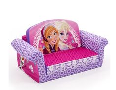 Disney Frozen Movie Elsa Anna Olaf Small Kids Flip Open Lounger Sofa Relax Chair #KidsFurniture #Frozen