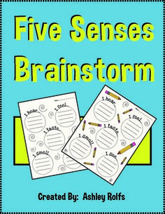 FREE Five Senses Brainstorm