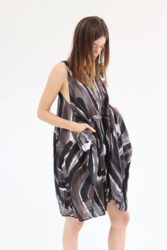 Rachel Comey Popcorn Dress Mink Canter Stripe / BEKLINA
