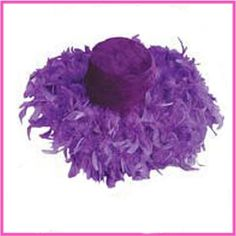 Purple Feather Hat Tea Hats, Tea Party Hats, Purple Rain, Red Purple, Jenny Joseph, Red Hat Society, Lady In Waiting, Feather Hat, Wearing A Hat