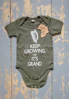 'KEEP GROWING SURE IT'S GRAND' Babby wear