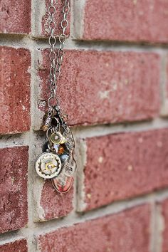 Winked Heart Necklace via Etsy