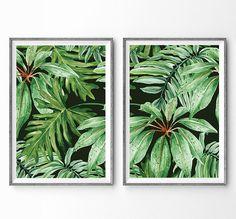 NOUVEAU * Banana Leaf Print - impression papier, Art abstrait