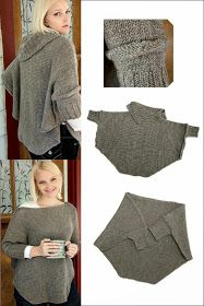 Needlecrafts,Knit - Making of a Swoncho                         Most definitely the poncho is easy to wear. Throw it on and you're good ...
