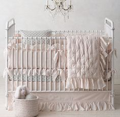 Ruffled Voile Nursery Bedding Collection | Restoration Hardware Baby & Child