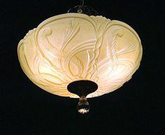 Vintage Art Deco Candleabra Chandelier 3 Light Ceiling Fixture