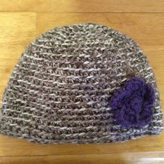 Crochet Beanie with Flowers by CogarCrochet on Etsy, $13.00