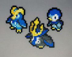Kyogre Primal Kyogre Groudon Primal Groudon by Pixelixir Pokemon Perler Beads, All Pokemon Sprites, Pixel Art, Peler Beads, Melting Beads, Perler Bead Art, Perler Patterns, Fuse Beads, Bead Crafts