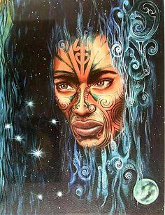 Nz Art, Art For Art Sake, Polynesian Art, Polynesian Tattoos, Maori Legends, Native Tattoos, Maori Designs, New Zealand Art, Fantasy Art Women