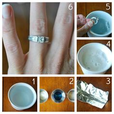 Clean wedding ring with Dawn