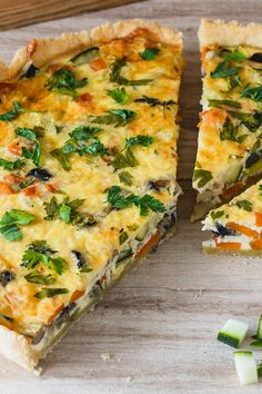 Vegetable vegetable quiche - Whether called vegetable cake or vegetable quiche, this recipe for the vegetarian vegetable quiche is simply fantastic. Everyone should have tried this quiche once! Easy Soup Recipes, Pasta Salad Recipes, Easy Dinner Recipes, Crockpot Recipes, Easy Meals, Vegetable Cake, Vegetable Quiche, Vegetable Recipes, Vegan Breakfast Recipes