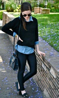 Suéter + Camisa: cute casual look
