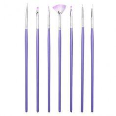 7pcs Acrylic UV Gel Nail Art Design Tips Dotting Painting Polish DIY Brush Pen Set