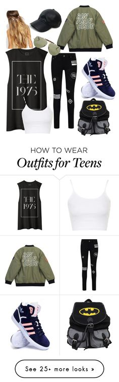 """Camp"" by olivia200493 on Polyvore featuring Vianel, Topshop, Chicnova Fashion, adidas, Johnny Loves Rosie, women's clothing, women, female, woman and misses"