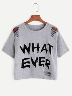 Short Sleeve T-Shirts. T-Shirts Designed with Round Neck. Regular fit. Letter design. Trend of Summer-2018. Designed in Grey. Fabric has some stretch.
