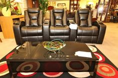 Man Cave Movie Theater Seating - Colleen's Classic Consignment, Las Vegas.