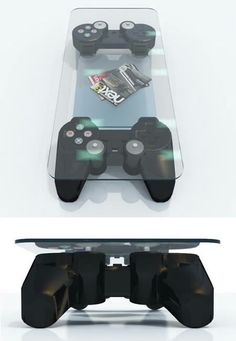 PS3 controller coffee table designed by Stephane Perruchon.