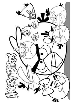 Cute lovely Stella from Angry Birds coloring pages online Fun