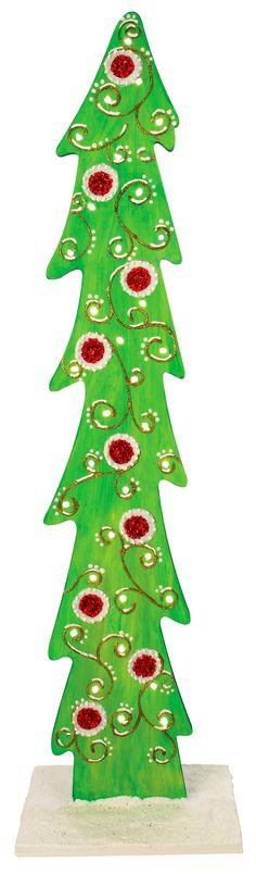 Nicole™ Crafts Curlicue Wood Tree #christmas #craft