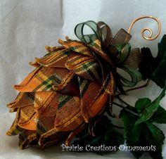 Plaid Christmas ornament idea