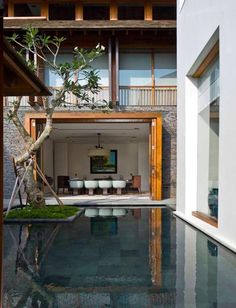 Modern Tropical House, Interior Architecture, Interior Design, Future House, Beautiful Homes, Backyard, House Design, Mansions, House Styles