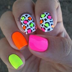 - bright summer nails -- 77 Bright Neon Nails to Try This Summer Neon Nail Art, Neon Nail Polish, Nail Lacquer, Neon Nails, Nail Polishes, Diy Nails, Gel Polish, Bright Nails Neon, Nail Art Designs