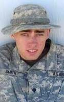 Army Sgt. Aaron M. Smith  Died October 2, 2009 Serving During Operation Enduring Freedom  25, of Manhattan, Kan.; assigned to the 2nd Battalion, 87th Infantry Regiment, 3rd Brigade Combat Team, 10th Mountain Division (Light Infantry), Fort Drum, N.Y.; died Oct. 2 in Nerkh district, Afghanistan, of injuries sustained when enemy forces attacked his unit using small-arms fire.