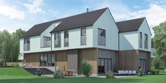 Woodlands Park  megawood used in the construction of this development - Premium Plus Slate Grey