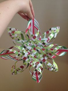 woven star uploaded to someone phone vie photobucket iphone app. Christmas Crafts For Toddlers, Christmas Crafts For Gifts, Noel Christmas, Christmas Paper, Diy Christmas Ornaments, Christmas Projects, Handmade Christmas, Christmas Ideas, Ornament Crafts