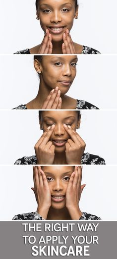 How to apply skincare and in what order.