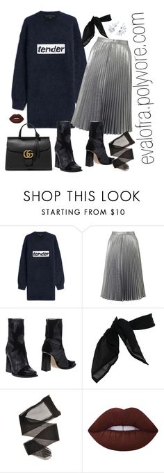 """""""Untitled #556"""" by evalofra ❤ liked on Polyvore featuring Alexander Wang, Miss Selfridge, MSGM, TC Fine Intimates, Lime Crime, Gucci, outfit and ootd"""