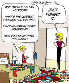Business requirements for room cleaning