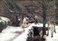 Art Students League, Alexander Hamilton, Woodstock, Oil On Canvas, American, Gallery, Master Art, Painters, Outdoor