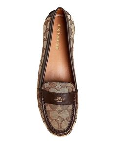 1cb0dcf0dda Coach Women s Odette Casual Loafers Flats Khaki-chestnut Size 8 for sale  online