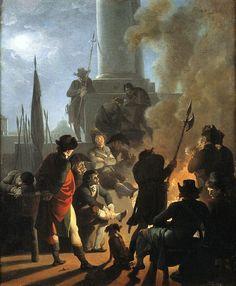 Nicolas-Antoine Taunay - Le bivouac des sans-coulottes - Nicolas-Antoine Taunay — Wikipédia