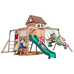 Backyard Discovery Montpelier All Cedar Wood Playset Swing Set.  Super cool fun toys for that special 10 year old. These are the toys our 10 year old Loves!