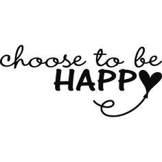 Stickers muraux citations - Sticker Choisissez d'être heureux | Ambiance-sticker.com
