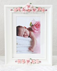 Pink Porcelain Roses Picture Frame by A Vintage Light Girl Nursery, Girl Room, Child's Room, Rose Pictures, Baby Room Decor, Kids Furniture, Decoration, Pink Roses, Diy And Crafts