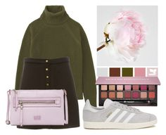 """""""Matching Flower"""" by fabulousdumpling ❤ liked on Polyvore featuring Uniqlo, Anastasia Beverly Hills, FOSSIL, adidas Originals, outfit and flower"""