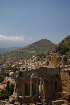 Taormina, Sicily - from the top of this ampitheater I could see Mt. Etna, steaming in the distance.
