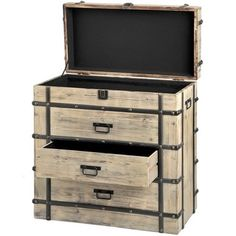 WOODEN FOUR DRAWER CHEST